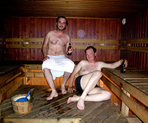 Alcohol in the sauna